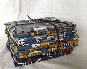 Manly Fabrics Bundle - Bundles of Fat Quarters in Masculine Prints