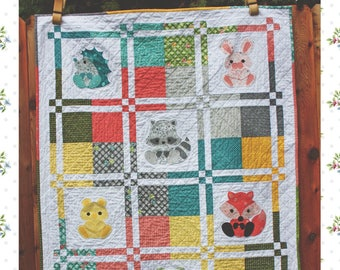 Woodland Critters Baby Quilt and Nursery Decor Paper Pattern