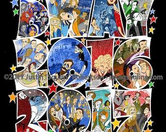 Squigs' 2016-2017 Broadway Season Musicals Poster