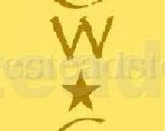 PRIMITIVE STENCIL -Item 3928 G - olde crow cafe - Clear 5 Mil Mylar - Make Your Own Sign