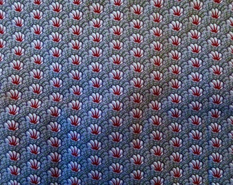 Vintage Cotton Fat Quarter Shell Fabric by Kent Avery - Old Sturbridge Village - A Quilting Party