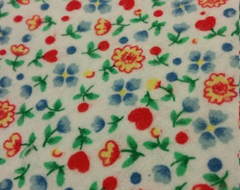 tiny tulips flannel  fabric