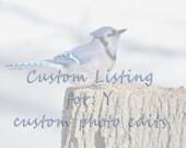Custom Listing, Photo Editing of 24 .jpgs