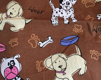 47 inches of Brown Dog Fabric