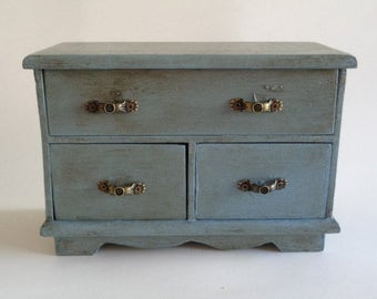 Painted Distressed Jewelry Box