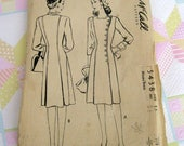 1940s McCalls pattern 5438 misses dress size 16 bust 34