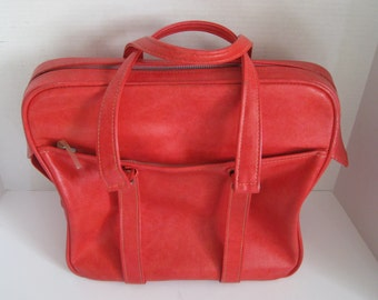 Vintage Samsonite Silhouette Pink Fuschia Carry On Bag Overnight Bag