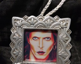"David Bowie ""Diamond Dogs"" by Mel Fiorentino Christmas Ornament"