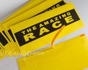 Amazing Race tear-strip envelopes -- Set of 10