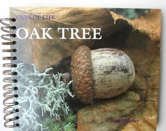 Recycled Book Journal, Vintage Book Journal, Sketchbook, Notebook, Altered Book, Art Journal,  Upcycled Sketch Book, Oak Tree