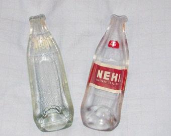 Vintage NEHI bottle - Melted pop bottle spoonrest or dish - upcycled bottle - Buy 3 bogo sale