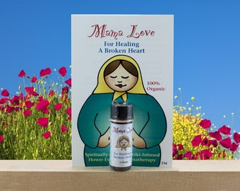 Grief, Flower Essence Aromatherapy for Healing a Broken Heart, Organic, Reiki Infused, Bach Flowers
