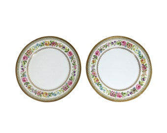 Limoges Plates | Floral Fine China | Wall Hanging | Charles Ahrenfeldt | Plate Set