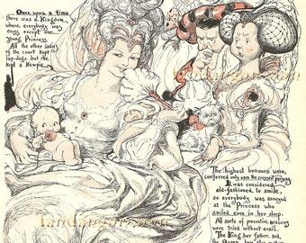 Kewpie Baby Shower Princess Rose O'Neil Victorian Fairy Tale Ephemera Vintage Scrapbook Instant Digital Download Printable