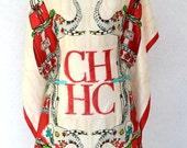 Designer CAROLINA HERRERA Scarf.  Vintage Designer scarf with Elephant print.