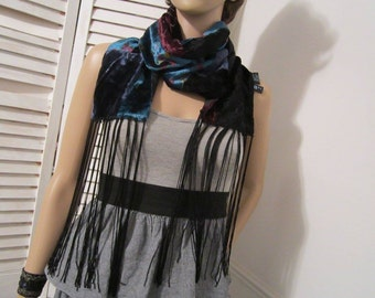 Fringed Scarf  Kenneth Cole Velvety  Long Scarf Made in India