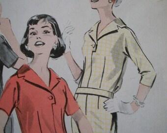 Late 50s vintage Butterick Dress 8566 Mad Men pattern 14 34 bust