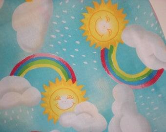 1 Yard Cotton Fabric-Rainbow Fabric-Quilt Fabric-Craft Fabric