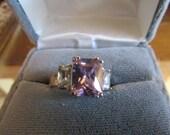 Cz pink ice ring