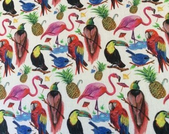 Liberty Fabric tana lawn  New Design 2017 Birds of Paradise  Fat Quarter fq