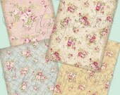 SALE PAPER ROSE backgrounds Collage Digital Images -printable download file-