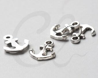30pcs Oxidized Silver Tone Base Metal Charms-Anchor 17x14mm (972Y-C-181)
