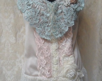 25% OFF Love my customers TUNIC Top Tank 20's Look Romantic Boho Whimsical Glam Girl - Vintage Cami Make Over - Pastels