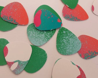 Set of 10 Upcycled guitar picks made from itunes gift card