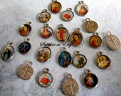 Sale Lot Catholic Medals-silver Miracle medal-Virgin Mary,our lady of Guadalupe Picture Pendant Medals Charms-Chatolic medlas,medallas sale