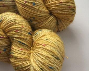 Yellow Rainbow tweed Yarn
