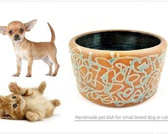 Ceramic dog bowl, cat bowl, pet bowl, dog dish, cat dish, pet dish, food dish - In stock