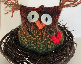 Cooper the Owl Hand-knit