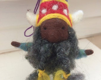 Viking Gnome Needle Felted Gnome - The Gnome Project
