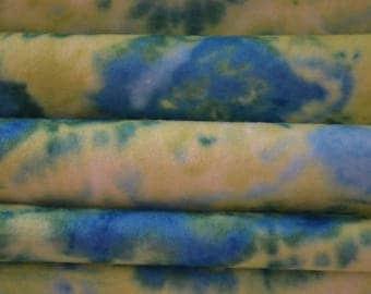 Blue and Green Tie Dye Felt Sheet Printed Felt Sheet