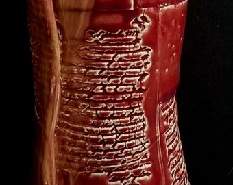 Pottery Sculpture Vase Art Clay Home Decor Modern Art Handmade -Lady in Red