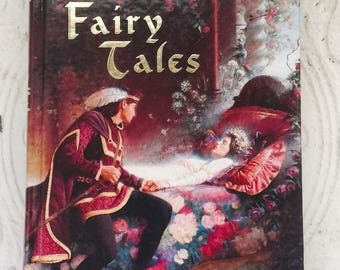 Grimm's Fairy Tales Vintage Illustrated Children's Book Hardcover Rapunzel Sleeping Beauty Hansel and Gretel Tom Thumb Snow White
