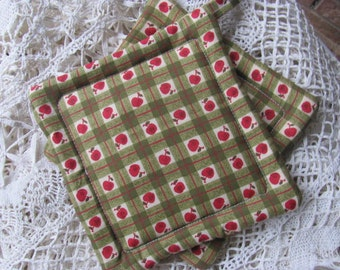 Apple Fabric Potholders/Trivets