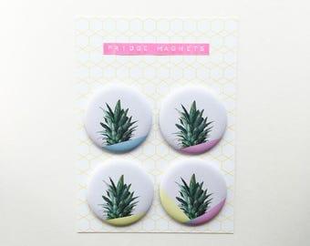 Fridge Magnets, Fruit Magnets, Pineapple Decor - Pineapple Dip