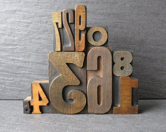 Vintage Letterpress Number Set - The One With The Arts and Crafts 3