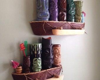 """Outrigger Canoe - Tiki mug Shelf 15"""""""