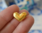 Gold plated heart tokens