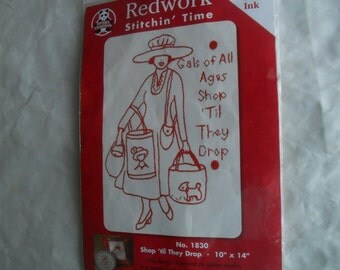 Embroidery Needle Redwork Kit New