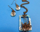 Custom Order Swan Necklace and Earrings (for Phyllis)