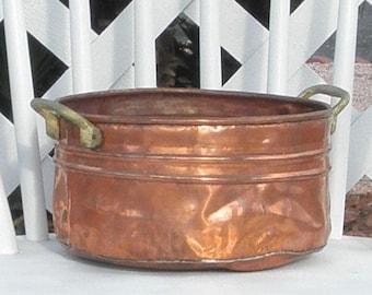 Rustic Copper Pot Vintage Planter