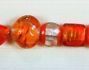 BF-194 Shades of Orange Lampworked Beads