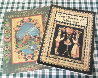 The Basics Of Folk Art Jerry & Jo Sonja Two Books Vol. 1 and 2