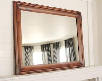 Sangria Knotty Alder Mirror