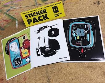 Portrait Sticker Pack - Limited Edition