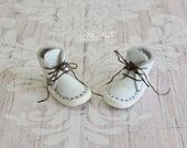 Just White -Real Leather boots for Blythe dolls (all bodies) and other similar size feet 1/6 BJD dolls