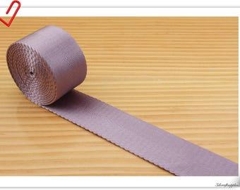 5 yards of 1 1/4 inch (32mm) Heavy weight Nylon webbing light Purple ZA97